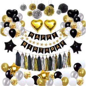 Golden Silver Heart Balloon theme